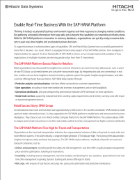Enable Real-Time Business With the SAP HANA Platform