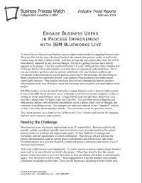 Engage Business Users in Process Improvement with IBM Blueworks Live