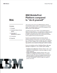 "IBM MobileFirst Platform compared to ""do-it-yourself"""