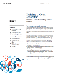 Defining a cloud ecosystem.  Second in a series: Your roadmap to cloud adoption