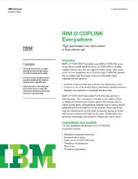 IBM i2 COPLINK Everywhere.  High-performance law enforcement to keep citizens safe