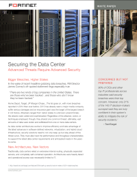Securing the Data Center.  Advanced Threats Require Advanced Security