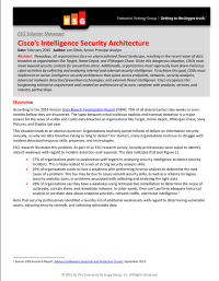 Cisco's Intelligence Security Architecture