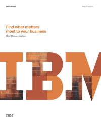 Find what matters most to your business