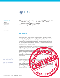 Measuring the Business Value of Converged Systems