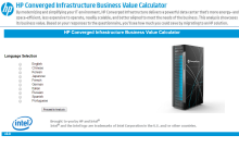 HP Converged Infrastructure Business Calculator