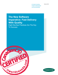 The New Software Imperative: Fast Delivery With Quality.  Eight DevOps Practices Are The Key To Success