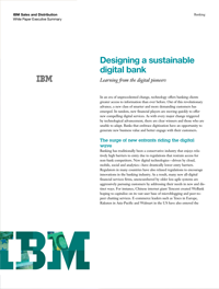 Designing a sustainable digital bank