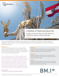 A Matter of National Security: BM.I Relies on SafeNet Encryption to Secure Storage