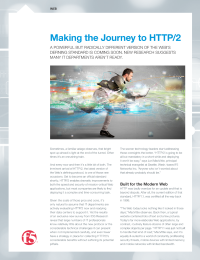 Making the Journey to HTTP/2