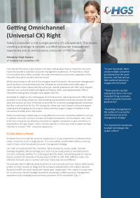 Getting Omni-Channel (Universal CX) Right