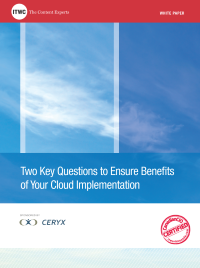 Two Key Questions to Ensure Benefits of Your Cloud Implementation