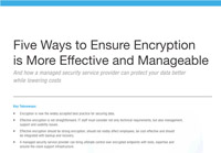 Five Ways to Ensure Encryption is More Effective and Manageable