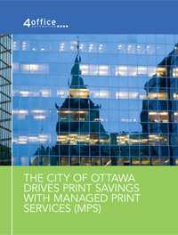 The City of Ottawa Drives Print Savings with Managed Print Services