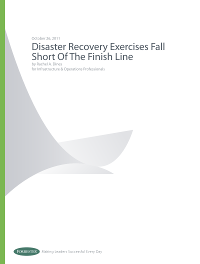 Disaster Recovery Exercises Fall Short of the Finish Line