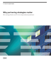 Why partnering strategies matter