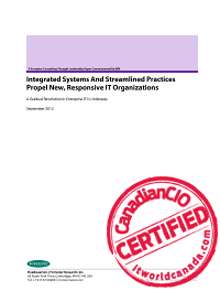 Integrated Systems and Streamlined Practices Propel New, Responsive IT Organizations