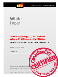 Generating storage IT and business value with software defined storage