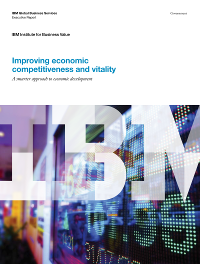 Improving economic competitiveness and vitality: A smarter approach to economic development