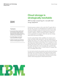 Cloud storage is strategically inevitable