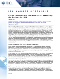 Cloud Computing in the Midmarket: Assessing the Options in 2013