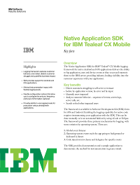 Native Application SDK for IBM Tealeaf CX Mobile