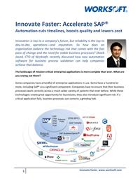 Innovate Faster: Accelerate SAP®