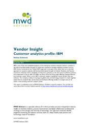 Vendor Insight Customer analytics profile IBM
