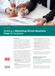 Building a Marketing-Driven Business Case for Analytics