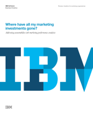 Where have all my marketing investments gone? Addressing accountability with marketing performance analytics