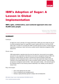 IBM's Adoption of Sugar: A Lesson in Global Implementation