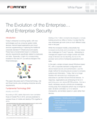 The Evolution of the Enterprise...And Enterprise Security