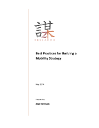 Best Practices for Building a Mobile Strategy
