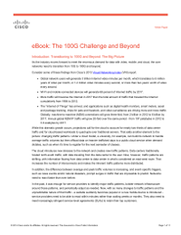 eBook: The 100G Challenge and Beyond