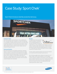 Case Study: Sport Chek® introduces retail lab powered by Samsung