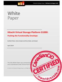 Hitachi Virtual Storage Platform G1000: Pushing the Functionality Envelope