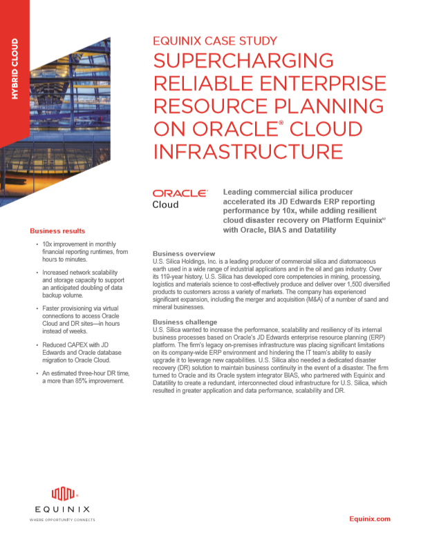 U.S. Silica Supercharges ERP with Oracle Cloud